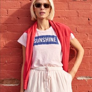 Women's yellow sundry brand sunshine tee
